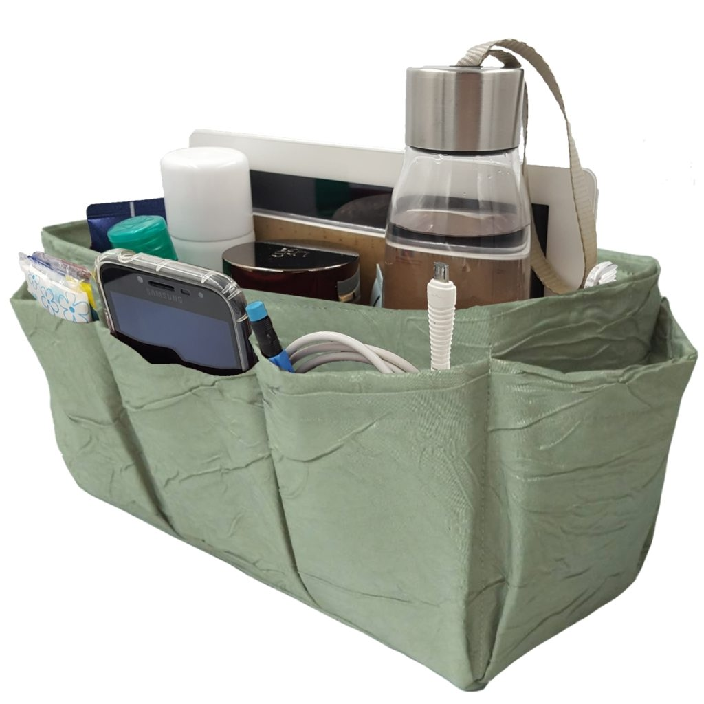 Wrinkled Green Tote Bags Organizer